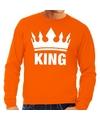 Oranje koningsdag king sweater heren