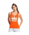 Oranje koningsdag queen tanktop dames