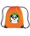 Panda rugtas gymtas oranje voor kinderen