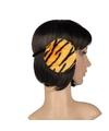 Pluche oorwarmers oranje tijger print voor dames