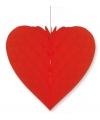 Bruiloft decoratie hart rood 40 x 44 cm