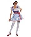 Hollands Delfts blauw dames jurkje