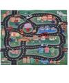 Speelmat race circuit met 4 auto 70 x 80 cm