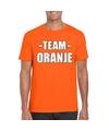 Sportdag team oranje shirt heren