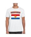 T shirt met nederlandse vlag wit heren
