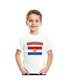 T shirt met nederlandse vlag wit kinderen