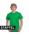 Team shirts felgroen met korting voor dames en heren