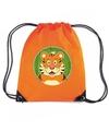 Tijgers rugtas gymtas oranje voor kinderen