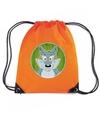 Wolven rugtas gymtas oranje voor kinderen